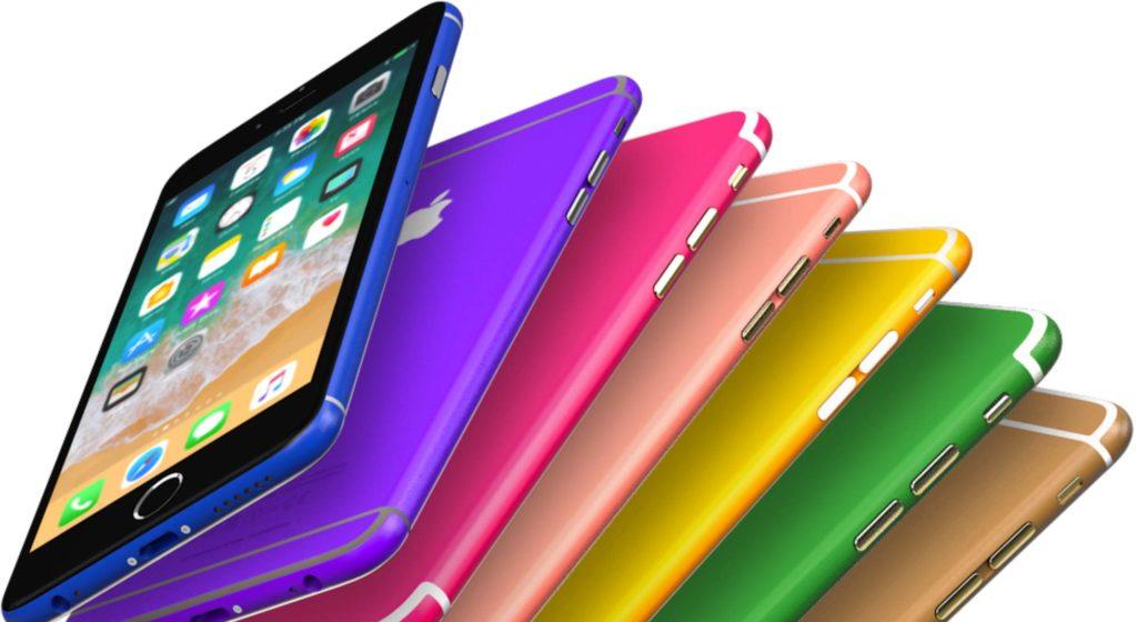 Les iPhone recolorés par Remade à l'aide d'un procédé unique.